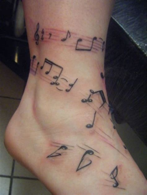 rose with music notes tattoo 30 best tattoos images on ideas
