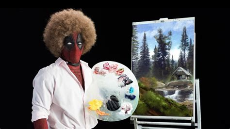 bob ross painting deadpool deadpool 2 teaser brings footage superherohype