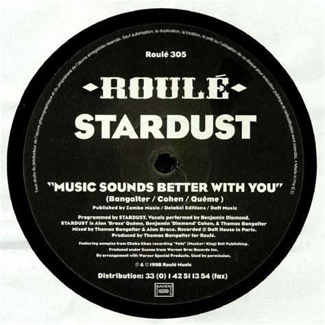 Is Better With You stardust sounds better with you vinyl at juno records