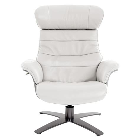 enzo leather recliner chair enzo pure white leather swivel chair el dorado furniture