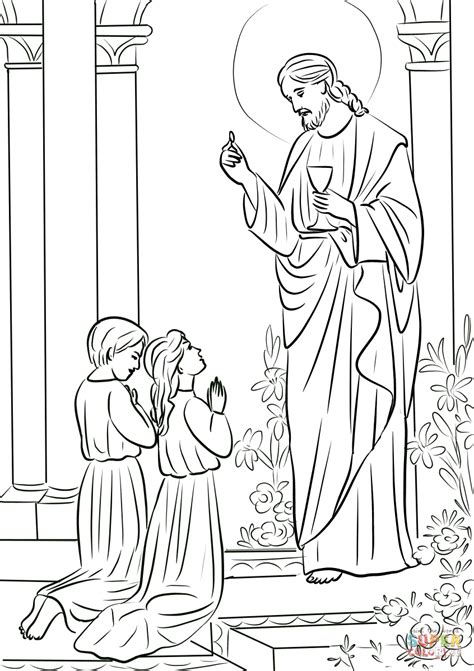 Holy Communion Printable Coloring Pages by Boy And Communion Coloring Page Free