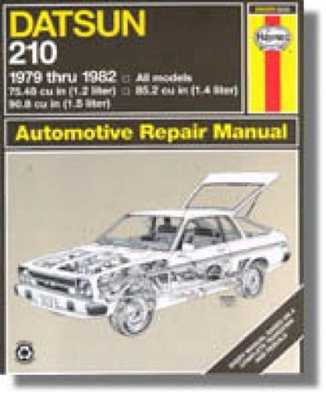 automotive repair manual 1979 nissan 280zx user handbook haynes datsun 210 1979 1982 auto repair manual