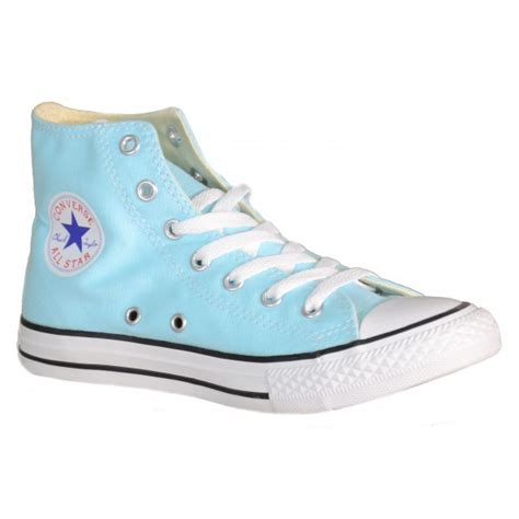 light blue converse shoes converse all star ct hi poolside girls sports shoes light