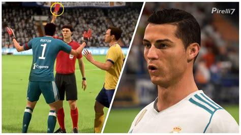 ronaldo juventus fifa 18 fifa 18 remake cristiano ronaldo penalty goal 90 vs juventus ucl 2018 by pirelli7