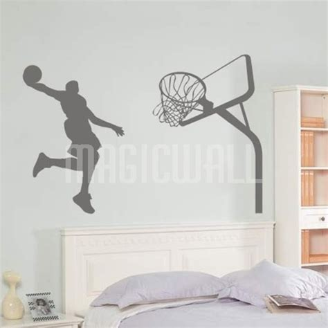 basketball wall stickers wall stickers slam basketball sport wall decals canada