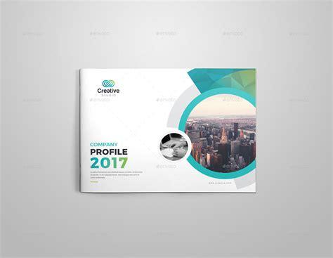 company profile design envato company profile landscape brochure template by generousart