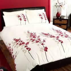 Oriental Duvet Sets Oriental Bedding Floral Luxury Red Cream Duvet Cover Bed