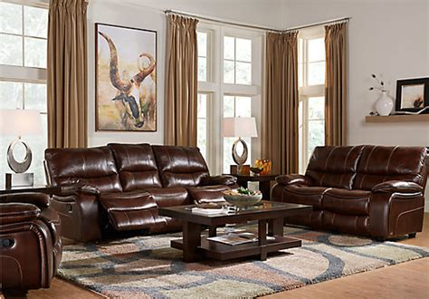 home brown leather 2 pc living room