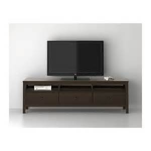 hemnes tv bench black brown 183x47 cm ikea