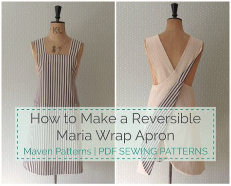 japanese apron pattern uk the maria wrap apron reversible tutorial apron