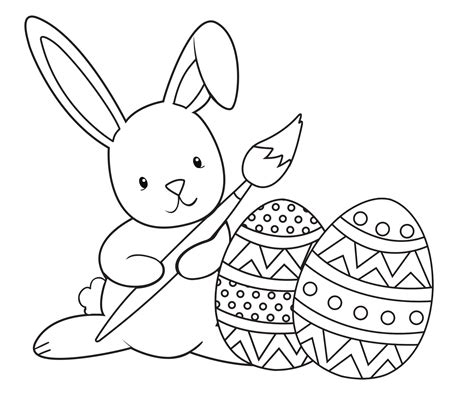 coloring page for easter bunny easter coloring pages crazy little projects