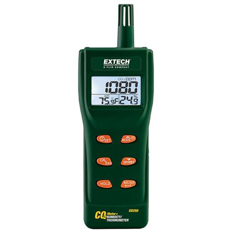 Air Quality Meter Extech Co250 Portable Indoor Air Quality Co2 Meter From
