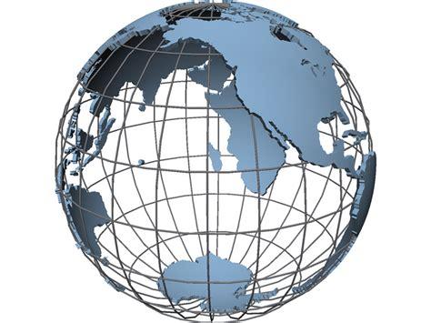 globe maps 3d globe map 3d model 3d cad browser