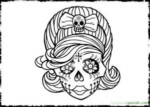 day of the dead coloring book day of the dead skull coloring pages bestofcoloring
