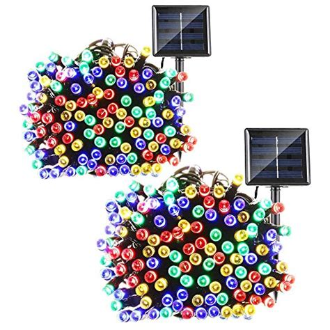 lalapao 2 pack solar string lights 72ft 22m 200 led 8 modes solar powered xmas outdoor lights waterproof starry christmas fairy lalapao 2 pack solar string lights 72ft 22m 200 led 8 modes solar powered outdoor lights