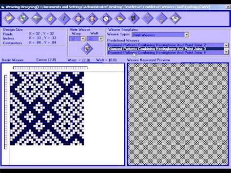 textile pattern design software textile weaving designing youtube