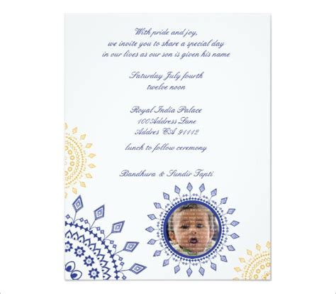 naming ceremony invitation template 41 naming ceremony invitations free psd pdf format