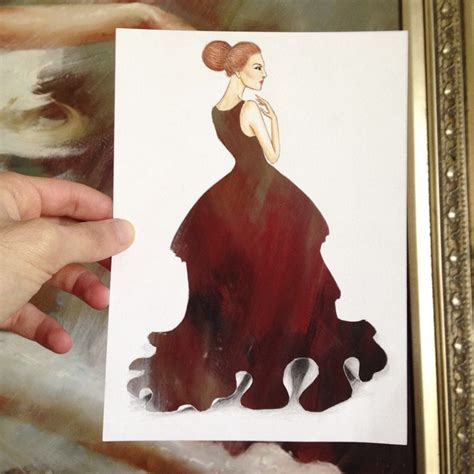 armenian illustrator completes  cut  dresses