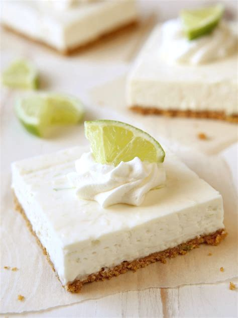 no bake lime cheesecake bars completely delicious