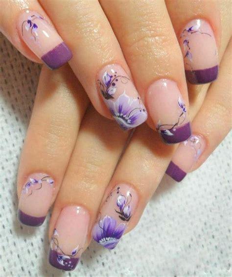 purple flower nails beautiful purple flowers nail designs 2014 nail art
