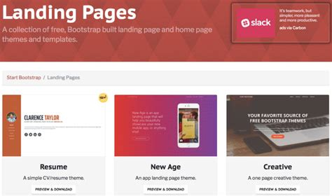 Nine Quality Sources For Beautiful Landing Page Templates Iobint Landing Page Sle Templates
