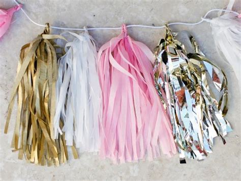 How To Make Paper Garland Decorations - make your own tissue paper tassel garland hgtv