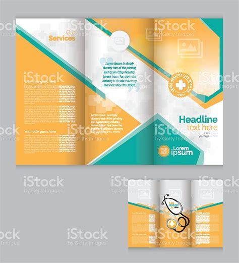 leaflet design templates vector tri fold medical brochure design template stock vector art