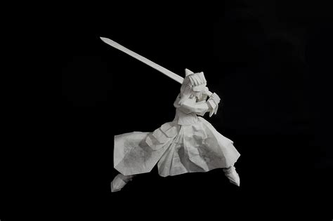 Origami Lightsaber - 25 japanese anime characters in origami form