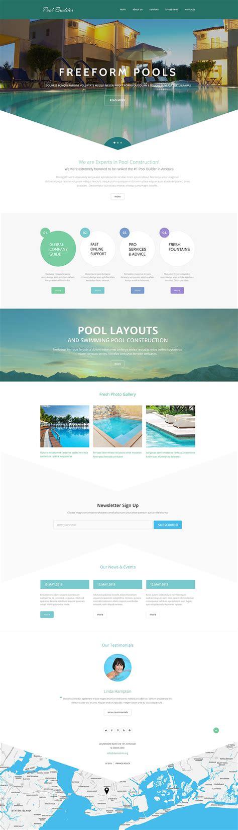 Pool Maintenance Website Template Pool Service Website Template