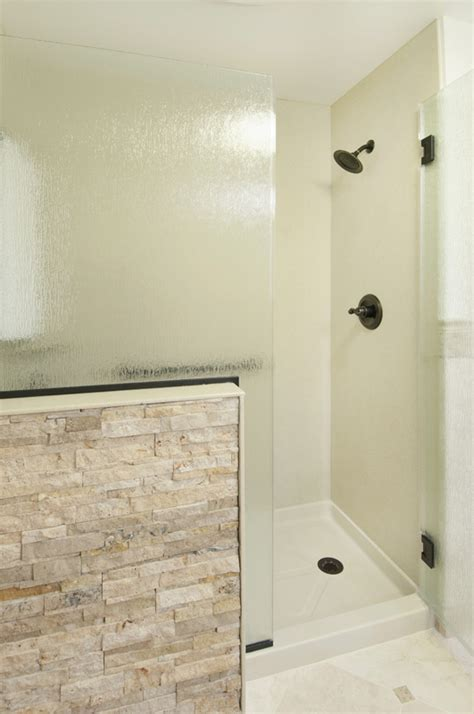 solid surface shower bath remodel solid surface shower with accent wall