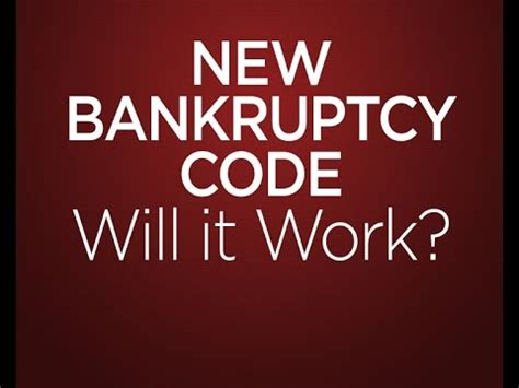 new bankruptcy the will it work for you books new bankruptcy code will it work the firm