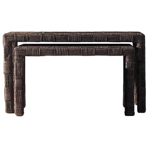 nesting sofa tables nesting console tables set abaca twist dcg stores