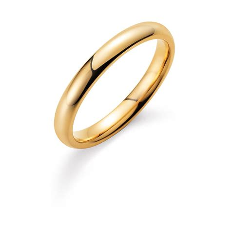 Wie Ring Polieren by Herrenring Classic 3mm In 14k Gelbgold 585 Poliert