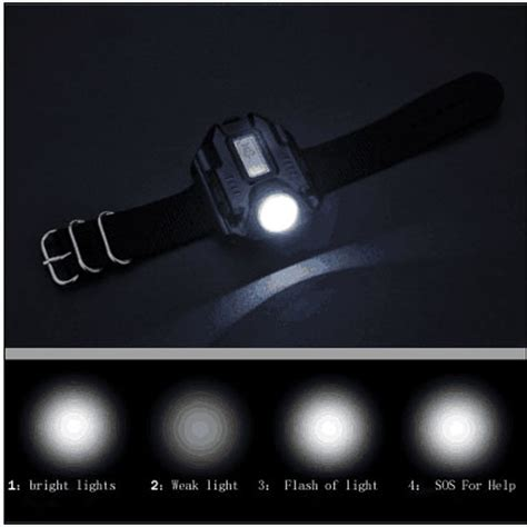 Senter Led Tangan Cree senter led jam tangan cree xpe q5 r2 black