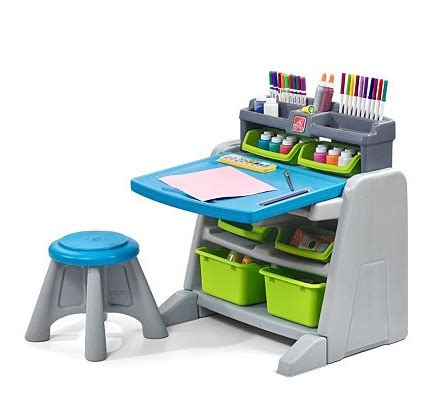 step 2 desk and stool kohl s step2 flip doodle easel desk stool only 42 49