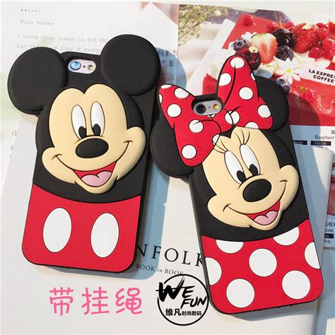 Iphone 5 5s Minnie Mouse Diskon Murah 1 tengocase mickey minnie mouse for iphone 7 8 plus 3d cases soft silicone