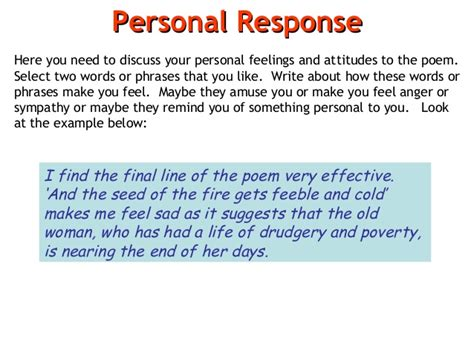 how to write a personal response paper poem analysis