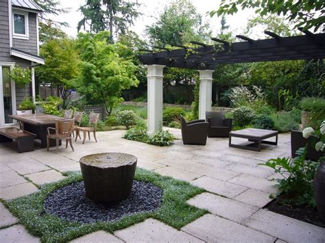 courtyard and water feature outdoor spaces and gardens pinterest gardens style and stone