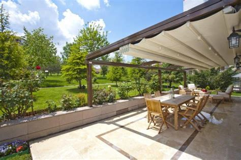 retractable roof pergola home decorating ideas