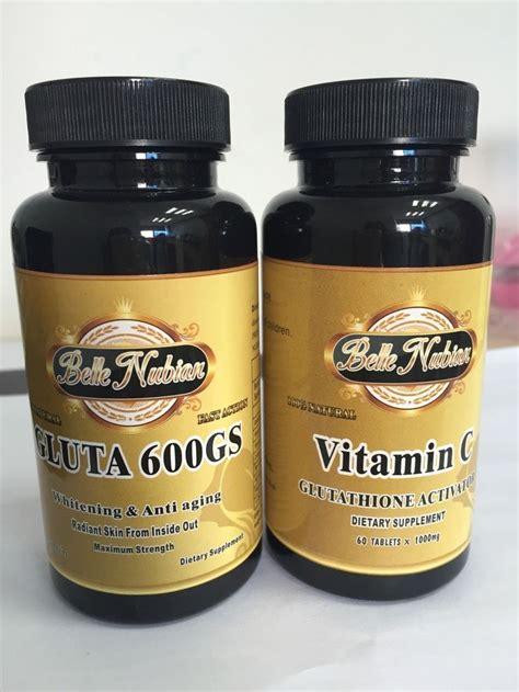 Gluta Vit C gluta 600gs and vitamin c gluta 600gs whitening and anti