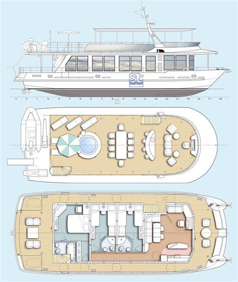 catamaran deck plans houseboat catamaran plan seatech ltd