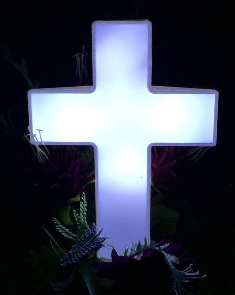 Solar Powered Memorial Lights Eternal Light Solar Powered Cross For Cemetery Solar