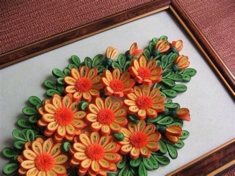 Paper Quilling Flowers - paper quilling quilled flowers on handmade pictures