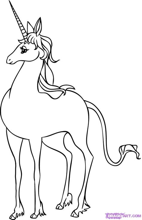 Last Unicorn Coloring Page | last unicorn coloring pages sketch coloring page