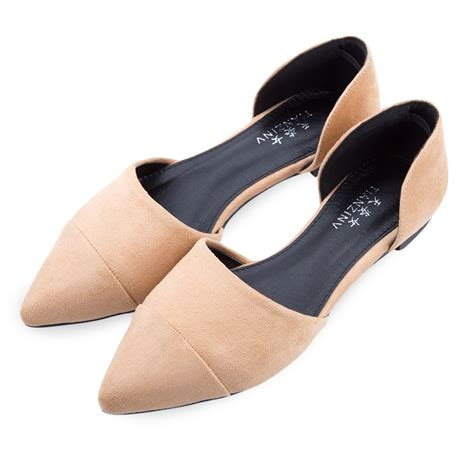 womens pointy toe shallow flats dress shoes