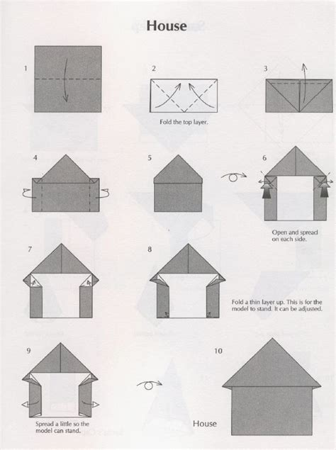 How To Make A 3d Paper House Step By Step - origami house house