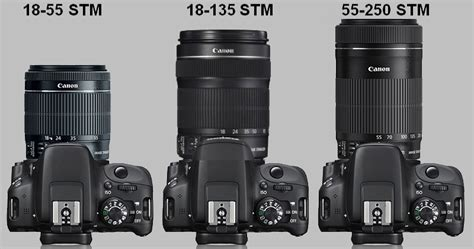Lensa Canon 55 250mm Stm 18 55 stm 55 250 stm vs 18 135 stm canon ef and ef