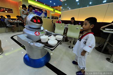 robotic wall china s first robot restaurant opens in kunshan jiangsu