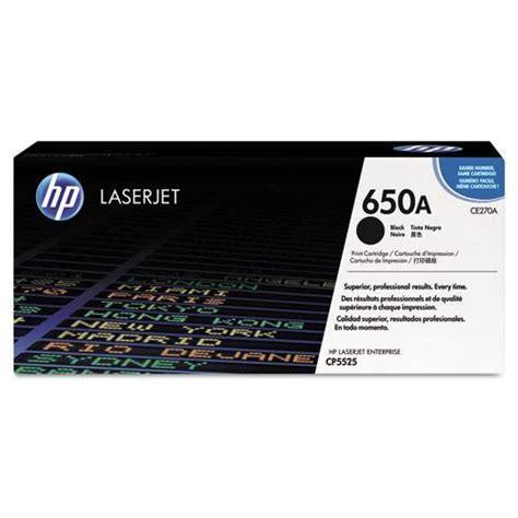 Toner Laserjet Hp 650a hp 650a ce270a black original laserjet toner cartridge