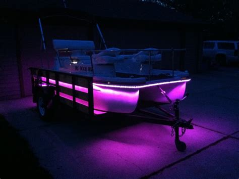 boat lights for pontoon led rope light under the deck pontoon forum gt get help